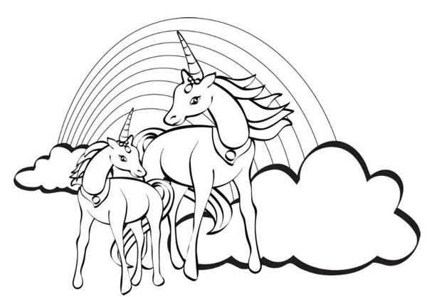 Rainbow Unicorn Pictures To Colour Imagen Para Colorear