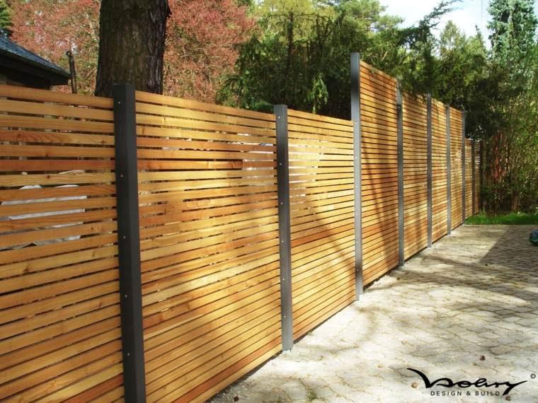 clotures en bois jardin moderne