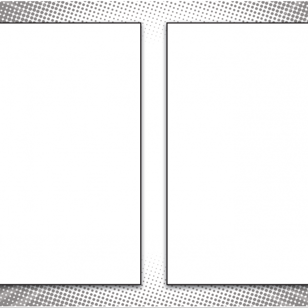 Blank Comic Panel 85 X 11 With Two Frames Per Page Life