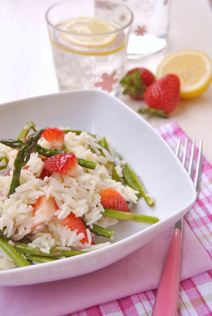 Basmati Rice with Asparagus and Strawberries