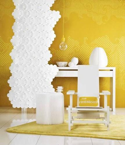 Yellow & White Decor