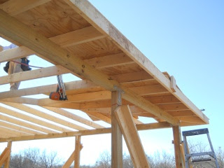 Porch Rafters Plywood First Row Bottom View