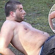Put it away, Arg! TOWIE's James Argent flaunts his moobs in the mud as he attempts to fight the flab at boot camp
