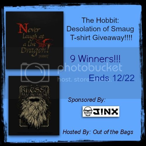Enter to #win 1 of 9 The Hobbit: Desolation of Snaug T-shirts. Ends 12/22.