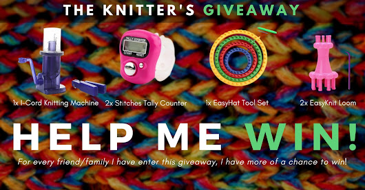 The Knitter's Giveaway... Help me win by entering!