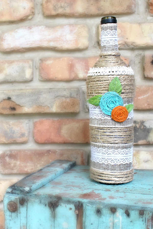 Wine Bottle Art, Gorgeous Recycling Idea For Home Decor