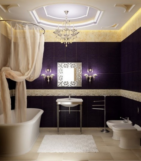 Luxury bathroom Design Pictures Purple