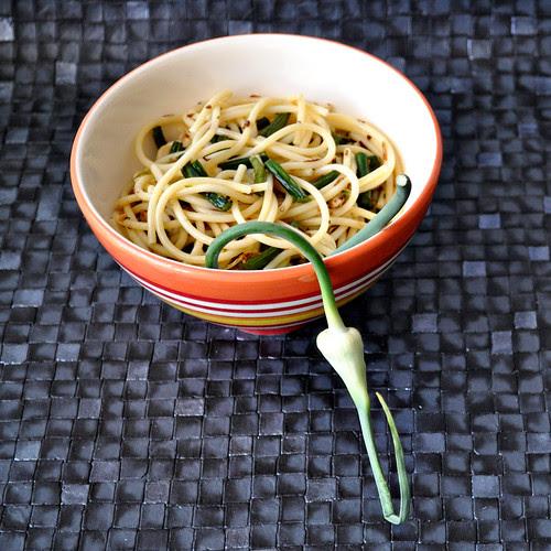 Garlic Scape Lemon Pasta