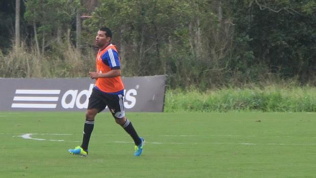 André Santos treino Flamengo (Foto: Richard Souza)