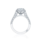 Pave diamond engagement ring   DK Gems