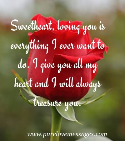 I Love You My Sweetheart Pure Love Messages