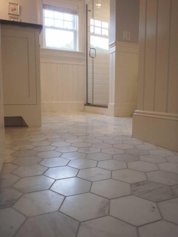 "Inspiring Baths -- 5"" Pearl White Marble Hexagon, at The ..."