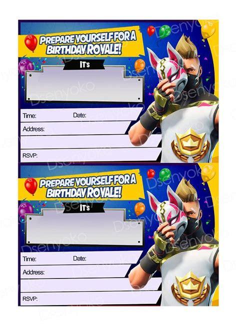 printable fortnite birthday party fortnite