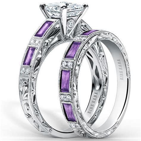 Kirk Kara Charlotte Purple Amethyst Diamond Engagement Ring