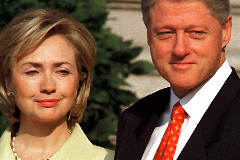 President Bill Clinton and first lady Hillary Clinton in September 1998.