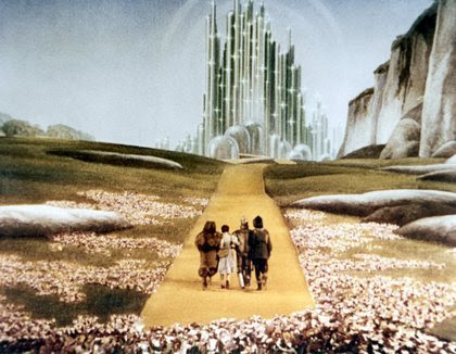 "The name for Oz in the ""Wizard of Oz"" was thought up when the creator, Frank Baum, looked at his filing cabinet and saw A-N, and O-Z, hence ""Oz."""