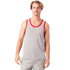 Alternative Keeper Vintage Jersey Ringer Tank Top, Men's, Grey & Red