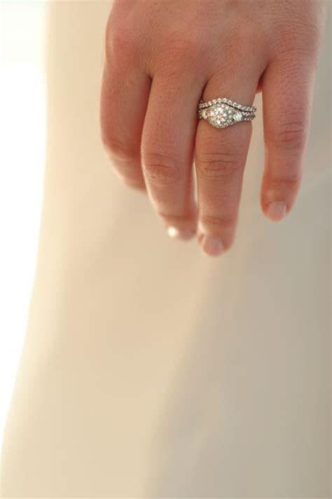 Girls w/ Halo Rings: Show me your wedding bands!!   Weddingbee