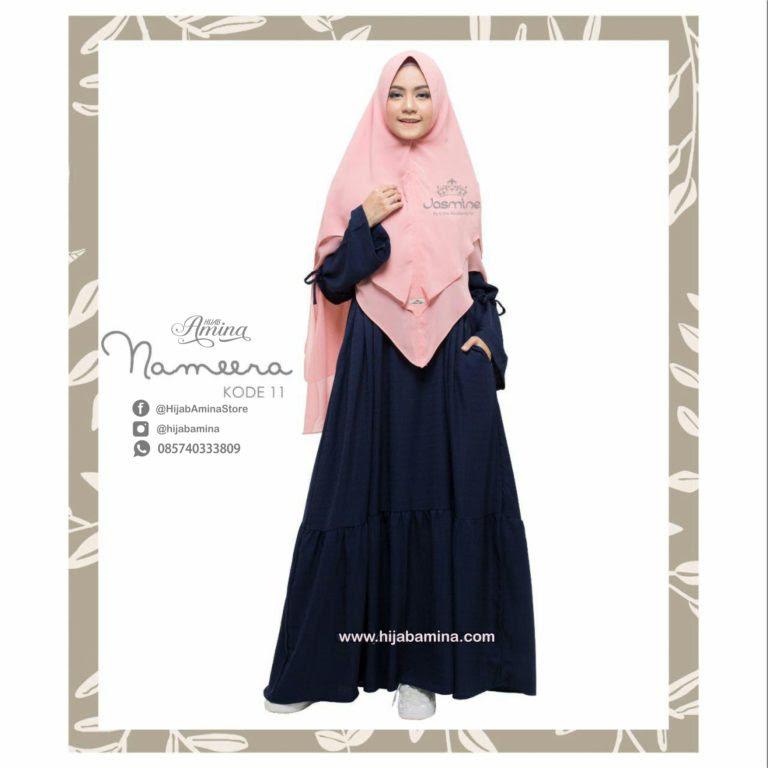 NAMEERA DRESS KODE 11 BIRU DONGKER HijabAmina com