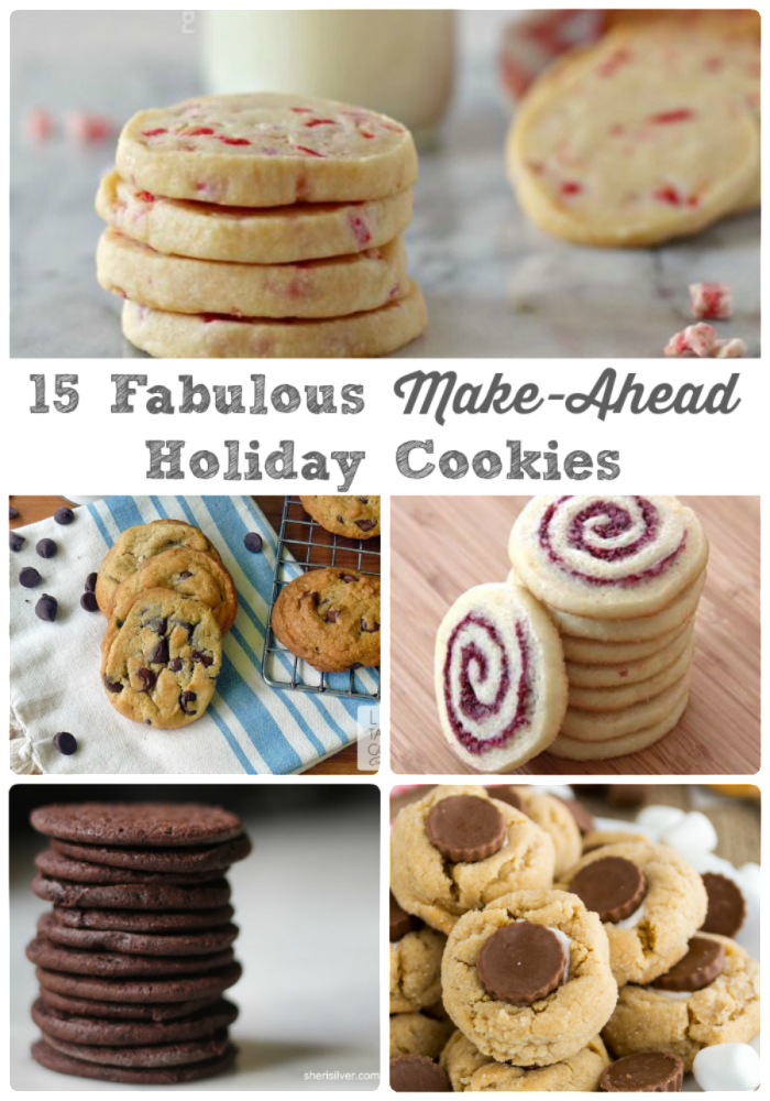 15 Fabulous Make-Ahead Holiday Cookies - The Frugal Foodie Mama - HMLP 66 Feature