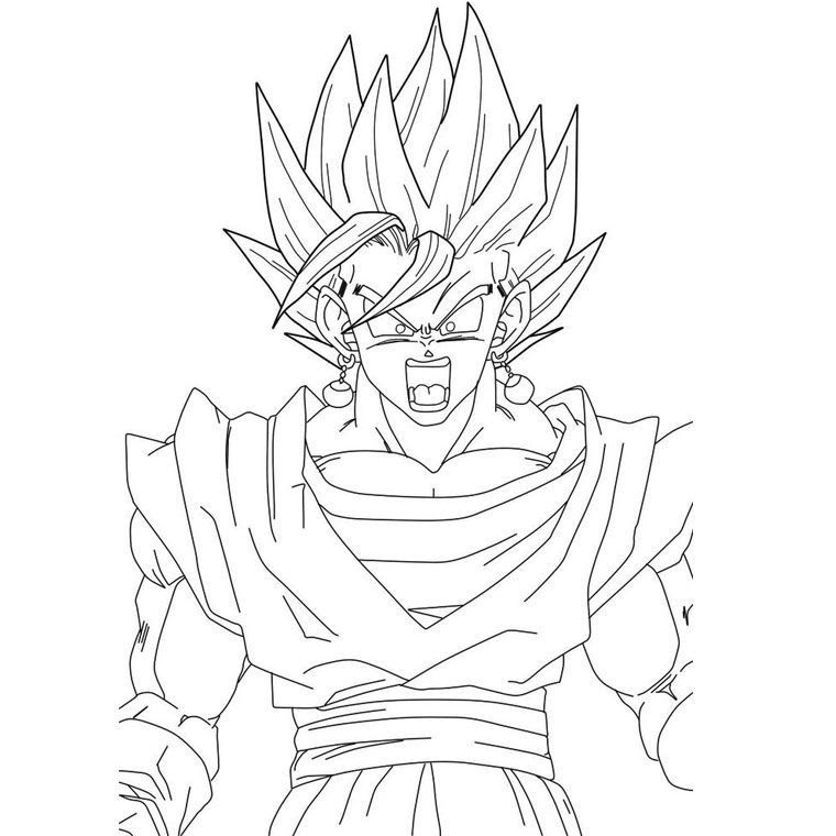 Dragon Ball Z Vegeta Ss4 Coloring Page Coloriage Dragon Ball Z