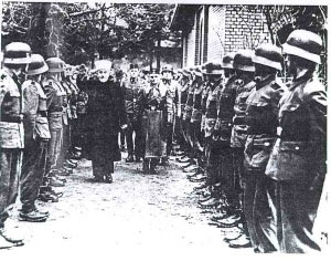 The Mufti reviews Nazi troops