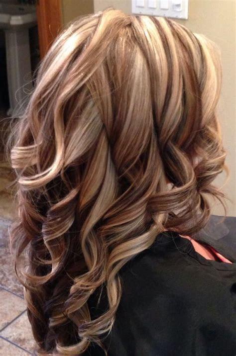 brown hair  blonde highlights  auburn lowlights