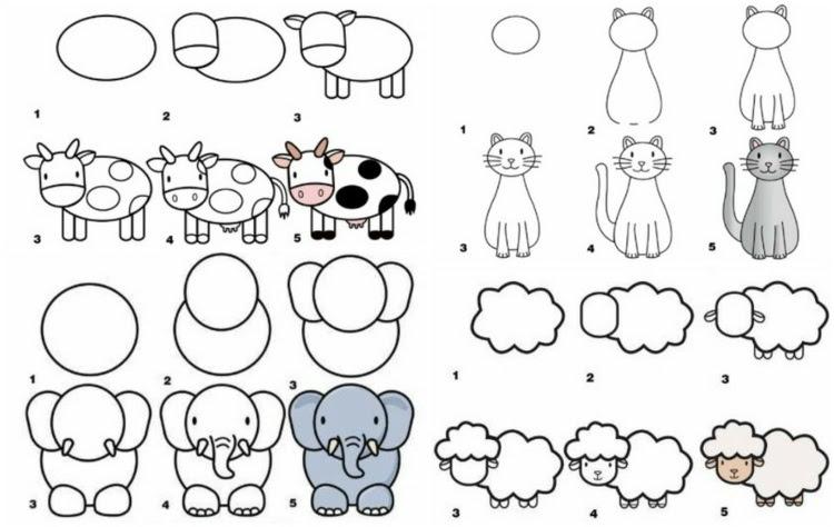 Deko Ideen: Zeichnen lernen mit Anleitungen für Kinder ...