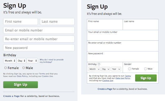 Why Infield Top Aligned Form Labels are Quickest to Scan - UX Movement
