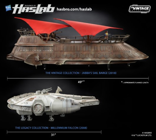How big is HasLab's Jabba's Sail Barge?