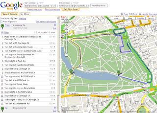 Google Maps Directions Car Mode