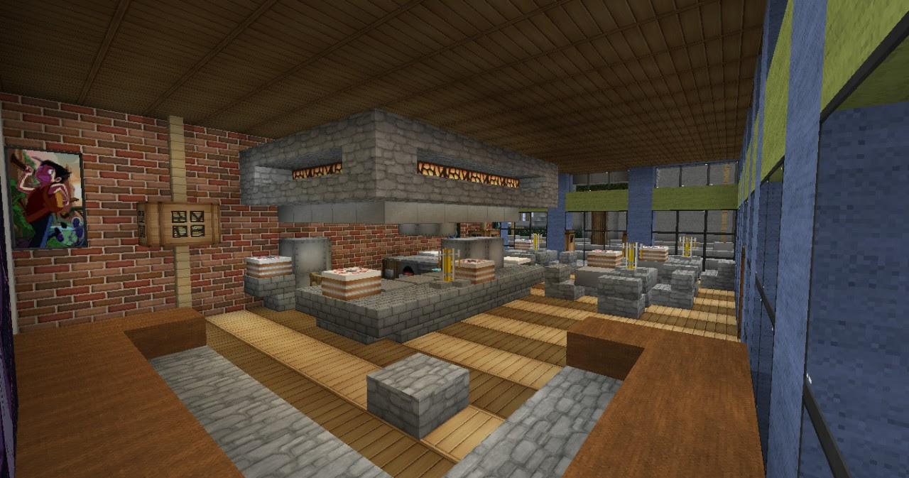 Mixed use Victorian Buildings Minecraft Project