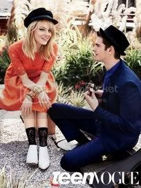 Emma Stone and Andrew Garfield in Teen Vogue