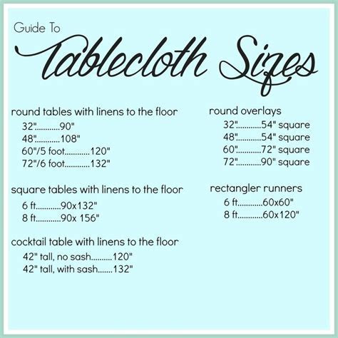Best 25  Tablecloth sizes ideas on Pinterest