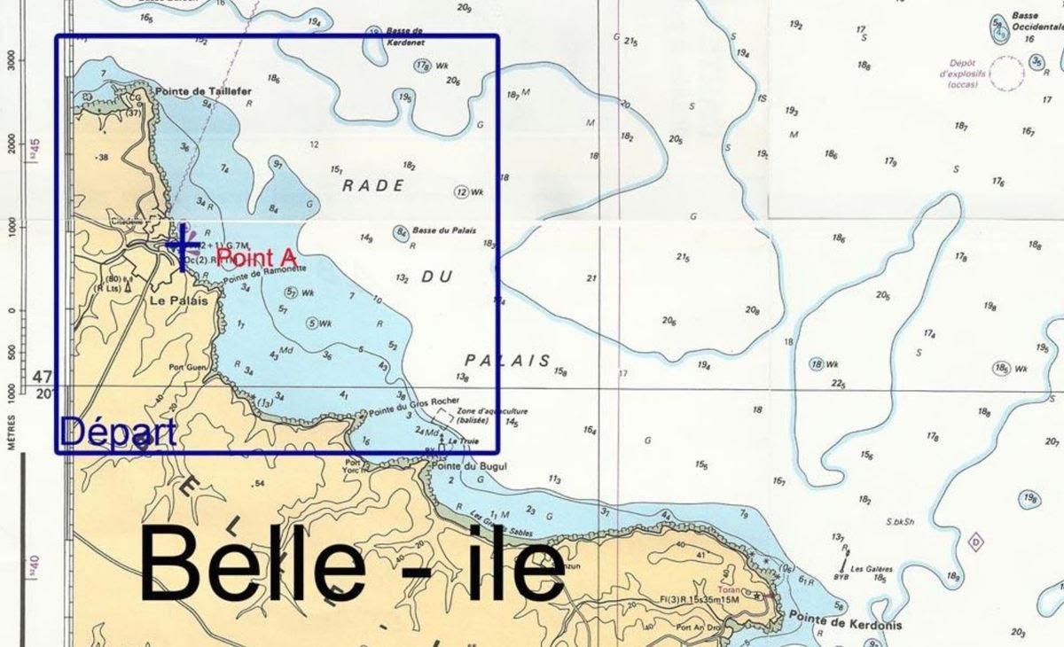 Carte marine actuelle