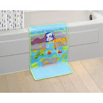 Innovative Living Colorful Design Cushioned Bath Kneeling Pad with Organizer