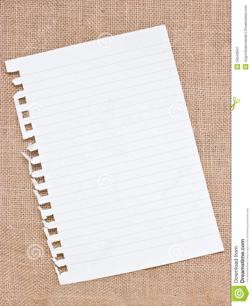 Ripped Off Blank Paper. Royalty Free Stock Photography - Image ...