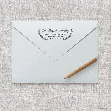 Self Inking Return Address Stamp / Wedding Invitation