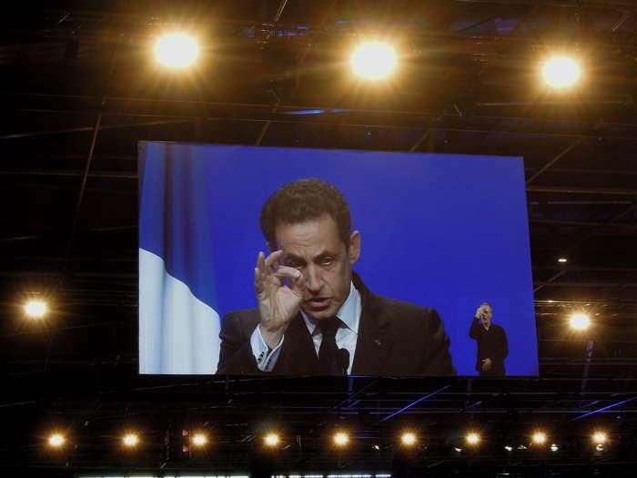 Discours de Nicolas Sarkozy pendant la 666e heure, le Samedi 28 Avril 2012, à Clermont-Cournon d'Auvergne entre les deux tours de scrutin des élections présidentielles 2012