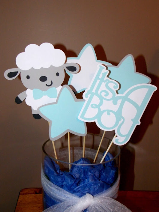 Sheep It's A Boy Centerpieces/ Baby Shower Sheep Centerpieces/Sheep Baptism / Party/ Boy Lamb Centerpieces/ Lamb Baby Shower Decor/Baby Lamb