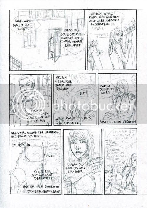 comic seite Skizze