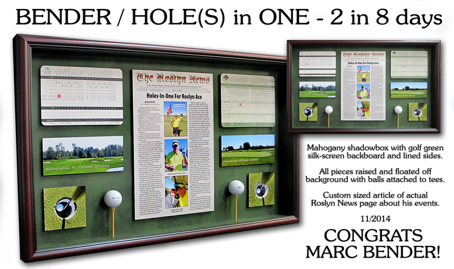 Golf Related Custom Framing