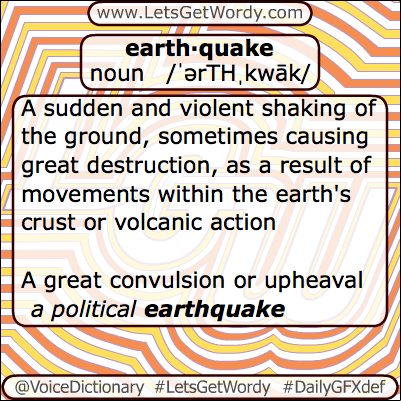 Earthquake 04/18/2013 GFX Definition of the Day