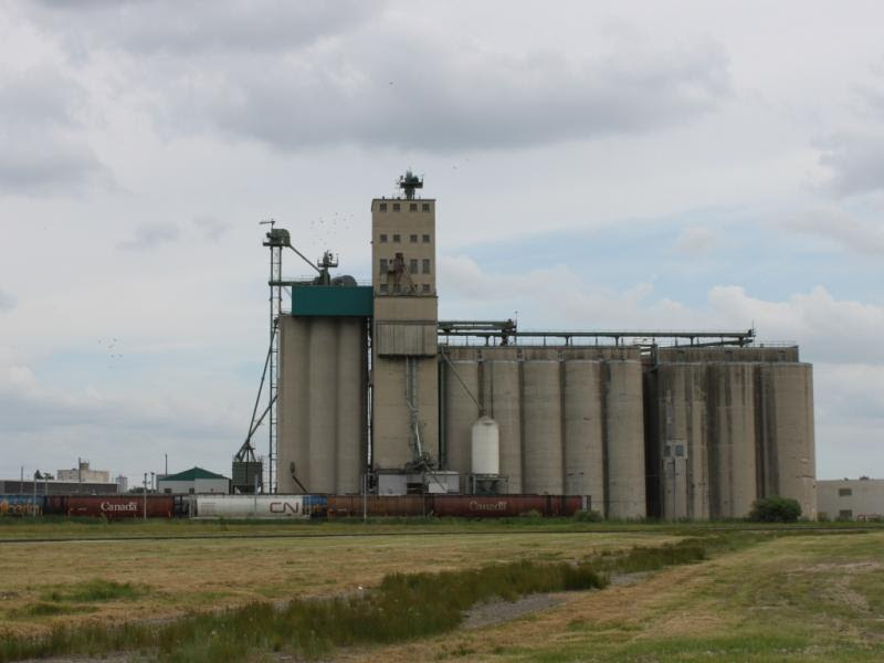 Grain elevator in Winnipeg
