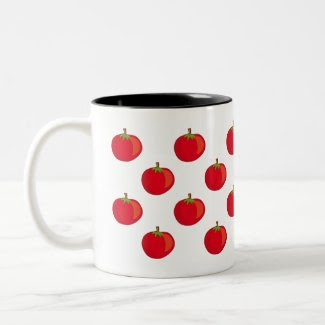 Eat Your Veggies The Tomato Pattern Coffee Mug mug