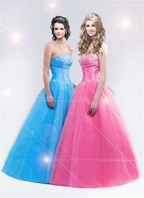 hot pink and baby blue wedding   blue and pink pink prom
