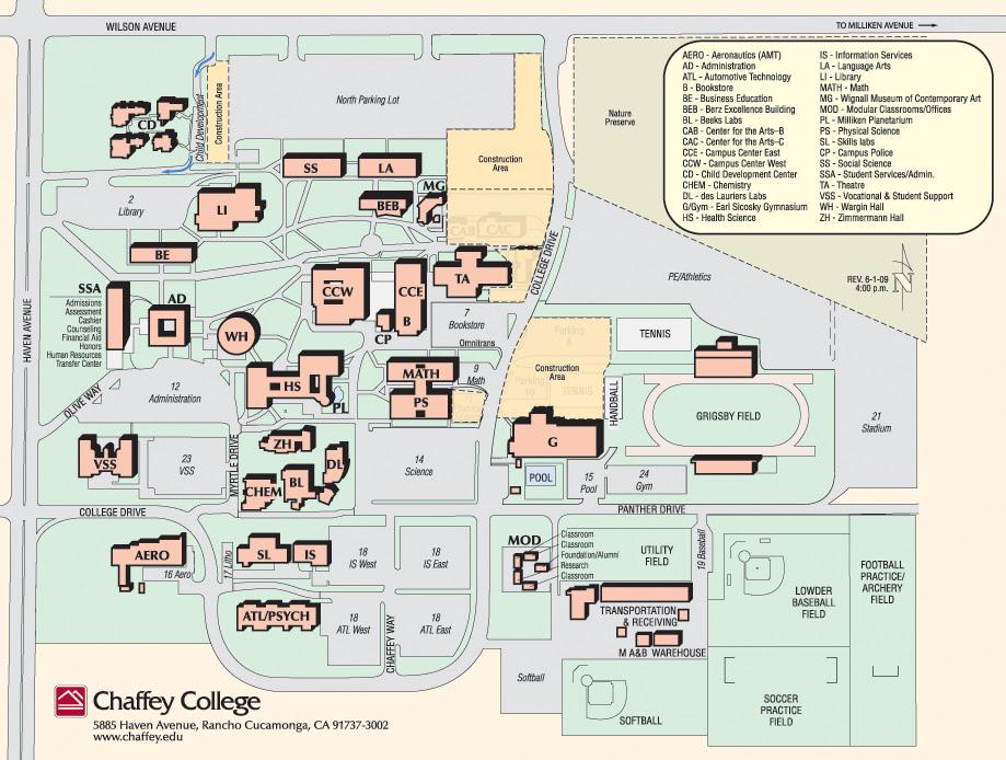 Chaffey College Campus Map Chaffey Map | Gadgets 2018