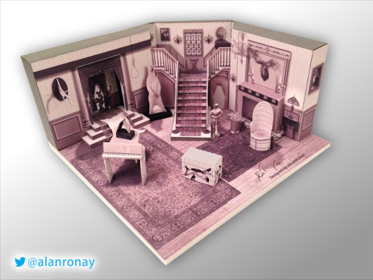 A Papercraft Model of the Interior of 'The Addams Family' Mansion