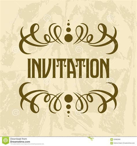 Invitation Vector Template Stock Vector   Image: 62880980