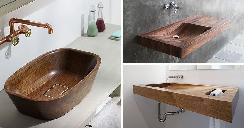 Bathroom Design Idea Install A Wood Sink For A Natural Touch